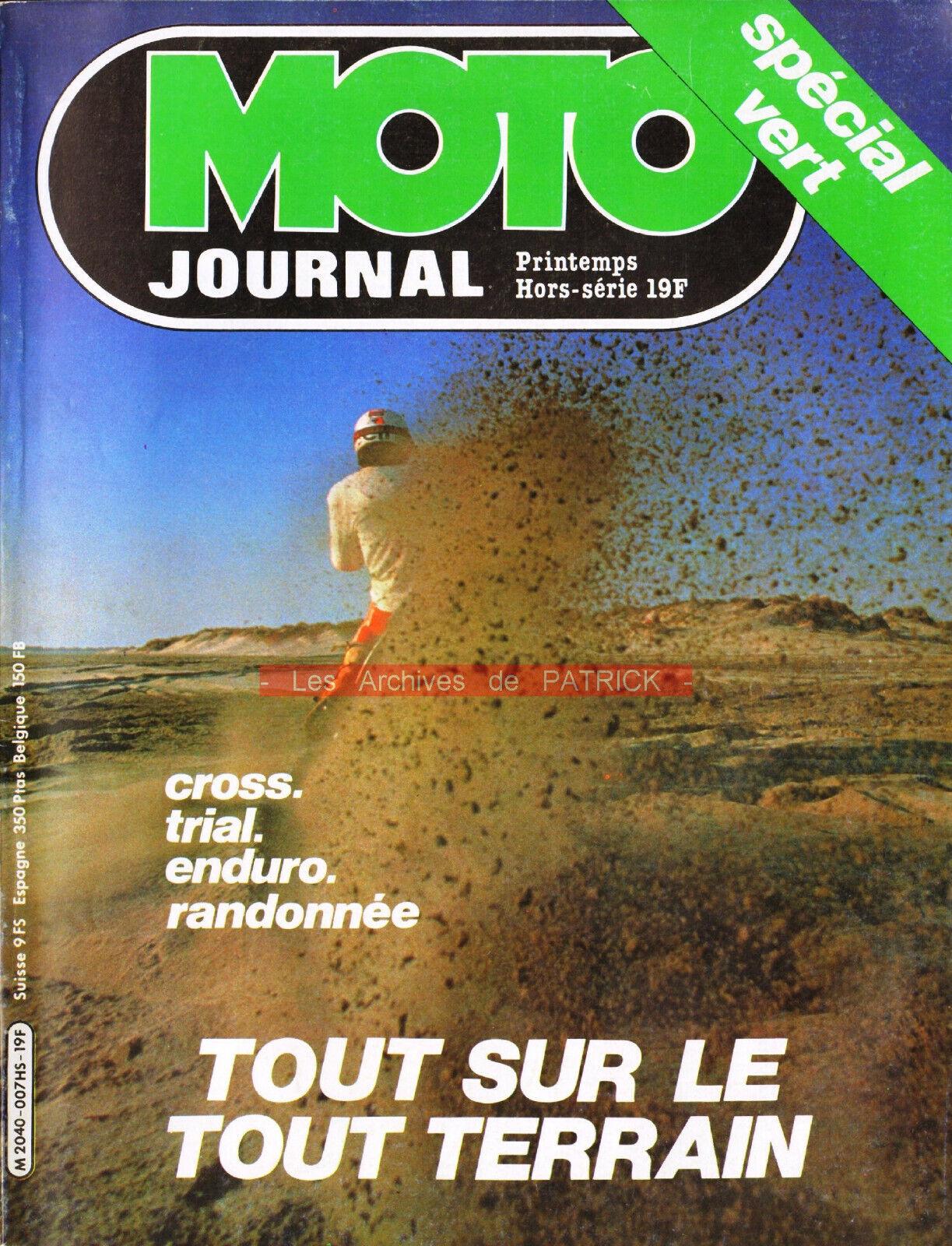Moto journal hs «spécial tout-terrain 1981» cross enduro trial trail paris-dakar