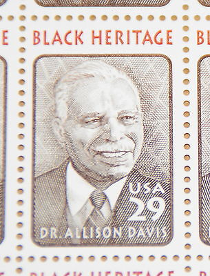 Dr. Allison Davis 1994 Black Heritage postage stamp sheet Sc# 2816