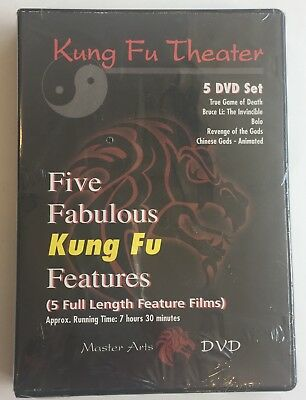 Kung fu Theater 5 DVD Set Master Arts Bruce Lee Li True Game of Death NEW