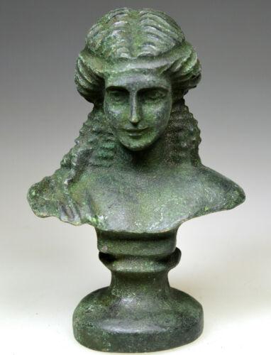 Roman Bronze Bust of Goddess Diana (Artemis)