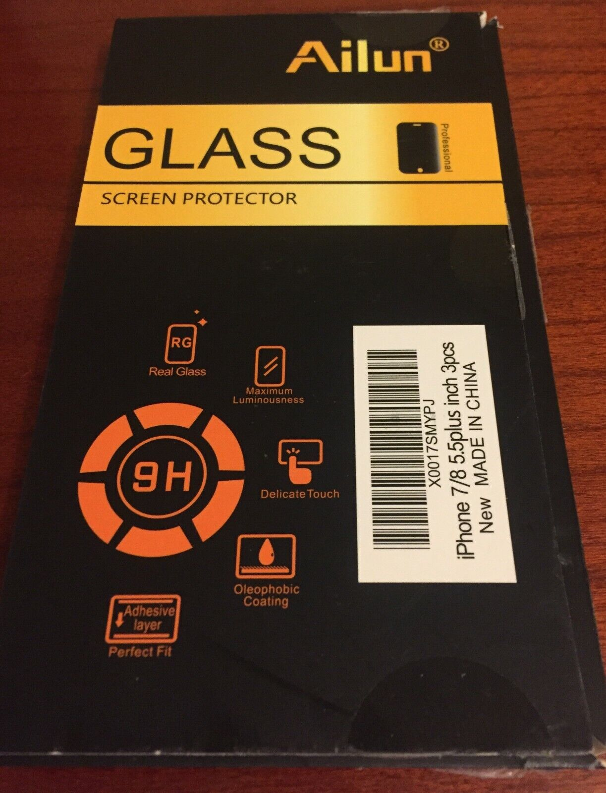 Ailun 1-Pack IPhone 7 8 Plus Premium Tempered Glass Screen Protector - $3.00