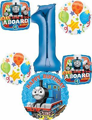 Thomas the Train Party Supplies 1st Birthday Sing A Tune Tank Engine Balloon ...