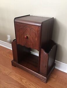Art Deco Cabinet - Console/ End/ Lamp Table-Walnut