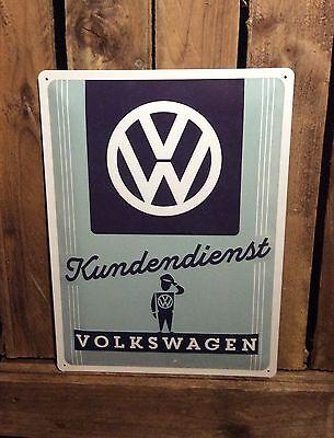 Volkswagen kundendienst sign - Metal Pressed Sign - official licensed product