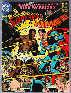 MUHAMMAD-ALI-v-SUPERMAN-VINTAGE-POSTER-COMIC-PRINT-LOOKS-AWESOME-FRAMED