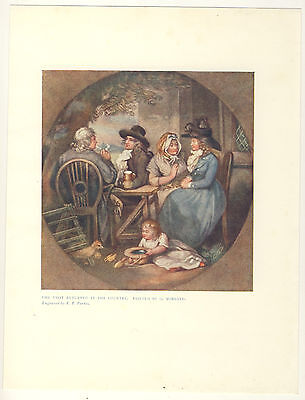 The Visit Returned In The Country By George Morland 1906 Colour Print