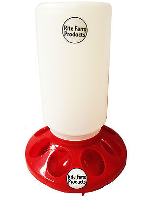 Red Rite Farm Products Feeder Base Poly Quart Jar Poultry Chicken Chick