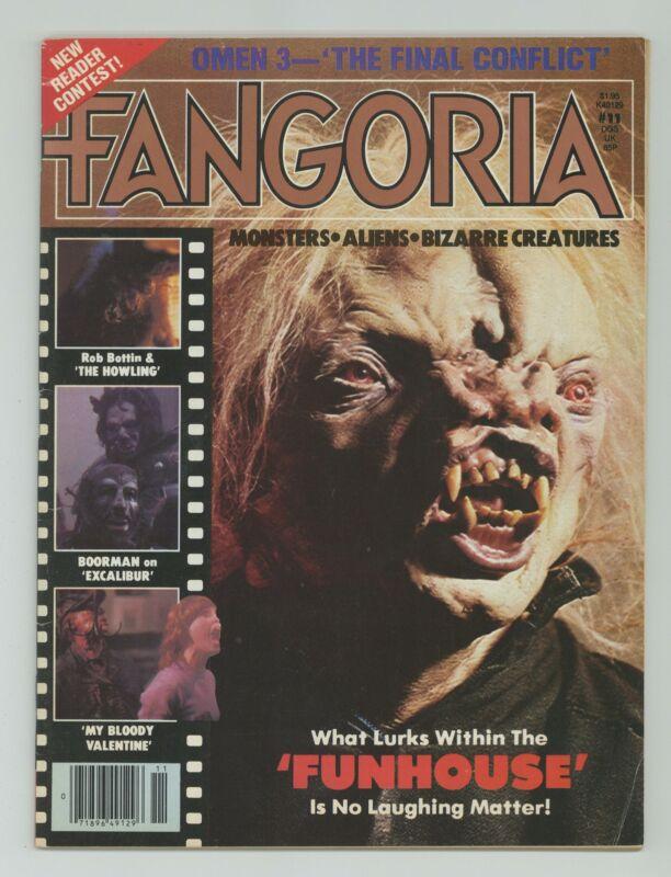 Fangoria 1st Series #11 GD/VG 3.0 1981