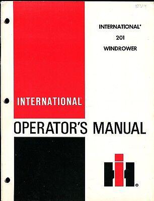 Ihc 201 Windrower Operators Manual