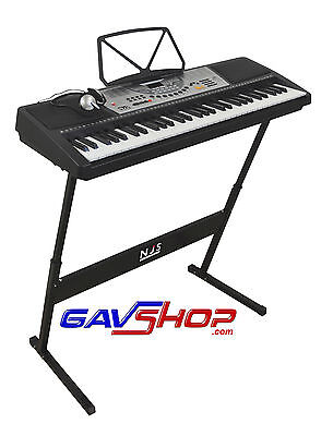 NJS 800 Digital Electronic Keyboard with stand & Headphones FREE DELIVERY