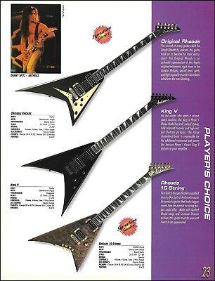 - Jackson Randy Rhoads 10-string King V guitar 8x11 ad print w/ specs Danny Spitz