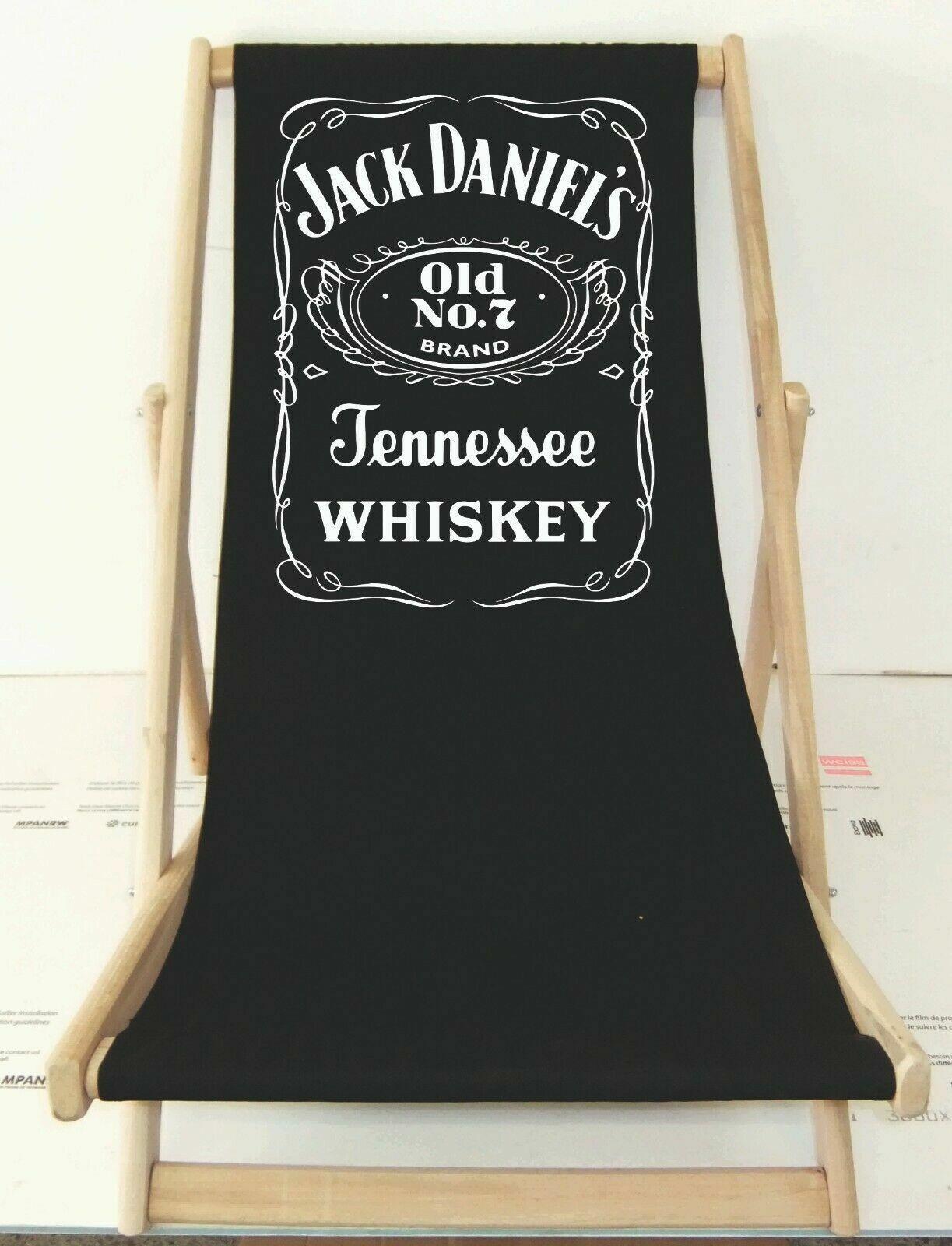 Jack Daniels Strandliege aus BUCHENHOLZ Sonnenliege bedruckt Gartenstuhl