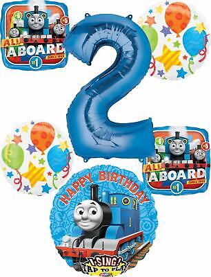 Thomas the Train Party Supplies 2nd Birthday Sing A Tune Tank Engine Balloon ...