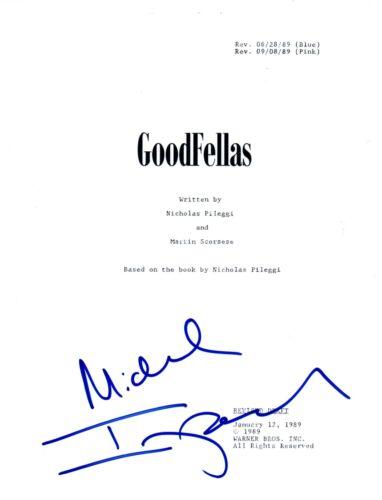 Michael Imperioli Signed Autographed GOODFELLAS Movie Script Screenplay COA