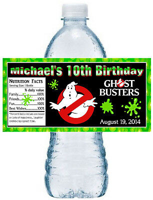 20 ~ GHOSTBUSTERS GHOST BUSTERS BIRTHDAY PARTY FAVORS WATER BOTTLE LABELS ](Party Ghost)