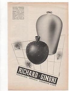 Pubblicita-epoca-RICHARD-GINORI-PORCELLANE-old-advert-werbung-publicite-reklame