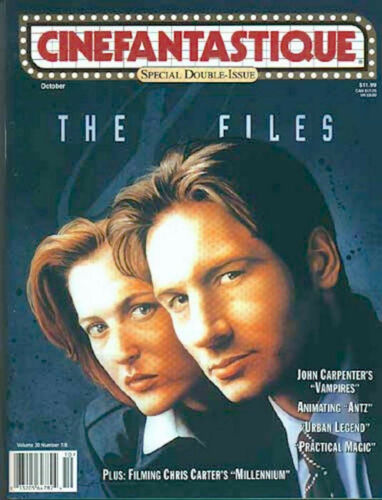 CINEFANTASTIQUE MAGAZINE Oct., 1998 THE X-FILES double issue
