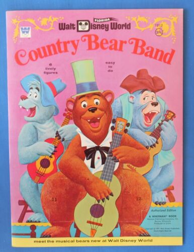 1971 Whitman Walt Disney World Country Bears Band Paper  vintage unused