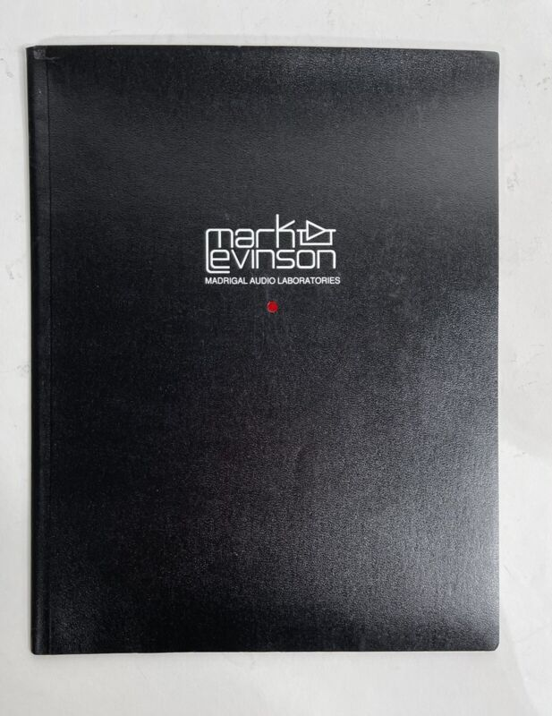 Mark Levinson No. 36 Digital Audio Processor Preamp Owners Manual Instructions