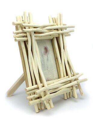 Thai Holz Bilderrahmen, 15.2cm x 10.2cm, Modell YK1. Altholz Handgefertigt Aus
