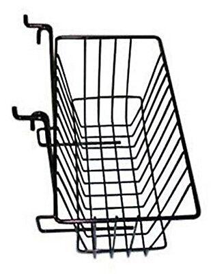"""Only Hangers Slatwall Gridwall Basket 12"""" Long x 6"""" Deep x 6"""" High Black"""