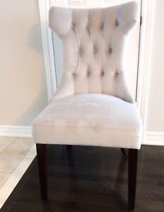 Upholstered/Tufted Parsons Side Chair x 2