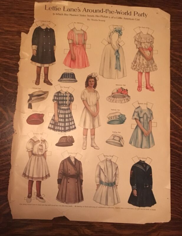 Vintage Paper Dolls 5 Lettie Lane's Around The World Party By Sheila Young Uncut