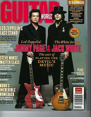 2006 Guitar World magazine Jack White Stripe Jimmy Page Led Zeppelin for sale  Shipping to Canada