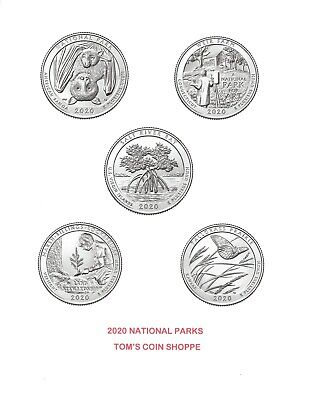 2020 NATIONAL PARK QUARTERS COMPLETE P&D SET (10 COINS) ****PRE-SALE****