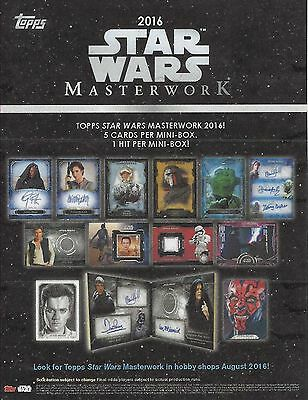 Star Wars Masterwork 2018 Factory Sealed Mini Box