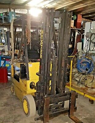 2750 Hyster E30xl 36v Electric Forklift 192 3-stage Wss New Battery 5500