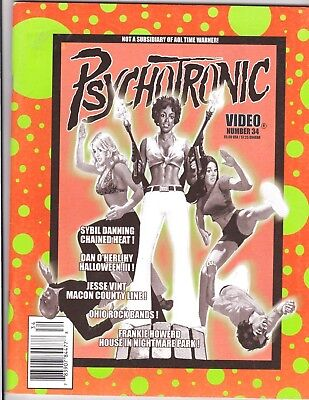 PSYCHOTRONIC VIDEO # 34 MAGAZINE FANAZINE HORROR SYBIL DANNING HALLOWEEN III (Sybil Danning Halloween)