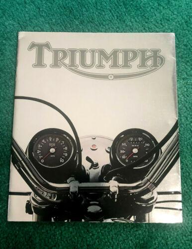 1974 TRIUMPH MOTORCYCLE BROCHURE TRIDENT BONNEVILLE TIGER-750 T100R TR5MX TR5T