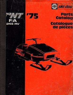 1975 SKI-DOO T'NT F/A 245 RV PART MANUAL P/N 480 1027 00 USED  (546)