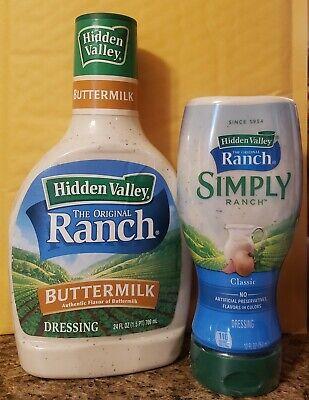 Hidden Valley Original Buttermilk Ranch & Simply Ranch Dressing ~ You Choose ~ Hidden Valley Buttermilk Ranch