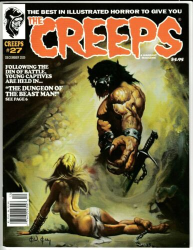 CREEPS MAGAZINE #27 DEC 2020 NM 9.4 (UNREAD) WARRANT PUBS KEN KELLY COVER
