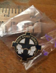 Rare Free Ernst Zundel badge b28 isd nationalist BHS oi patriot bnp nf fn npd