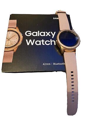 Samsung Galaxy Watch SM-R810 42mm Rose Gold Case Classic Buckle Pink Beige -...