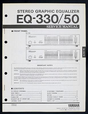 Yamaha EQ-330 EQ-50 Original Estéreo Graphic Ecualizador Manual de Servicio o141 segunda mano  Embacar hacia Spain