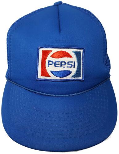 Pepsi Snapback Trucker Hat Driver Delivery Mesh Foam Rope Vintage