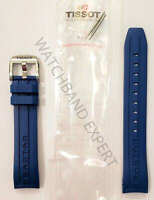 Original Tissot Seastar 1000 Model T066407A 19mm Blue Rubber Band Strap w/ Pins