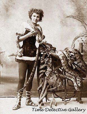 Woman Snake Charmer - Early 1900s - Historic Photo Print (Woman Snake Charmer)