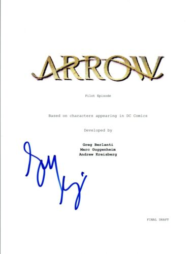 Greg Berlanti Signed Autographed ARROW Pilot Episode Script COA VD