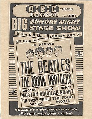 The Beatles ABC Theatre BIG Sunday Night Stage Show > Concert Poster > Reprint