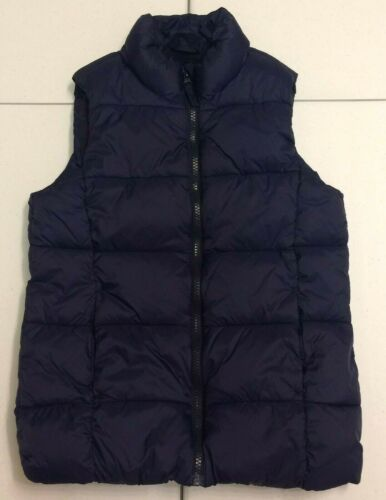 Old Navy Boys Navy Fleece Lined Puffer Vest (Size L 10/12)