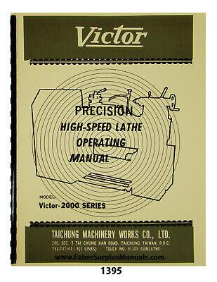Victor Lathe 2000 Series Operating Manual 1395