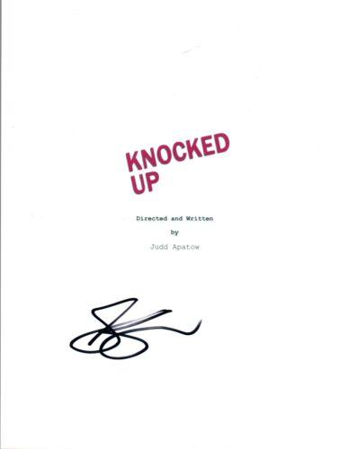 Seth Rogen Signed Autographed KNOCKED UP Full Movie Script COA AB
