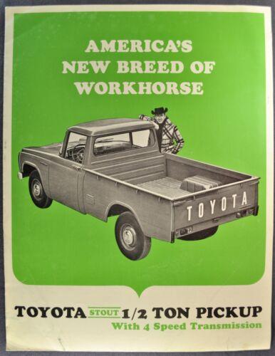 1966 Toyota Stout Pickup Truck Sales Brochure Folder Nice Original 66