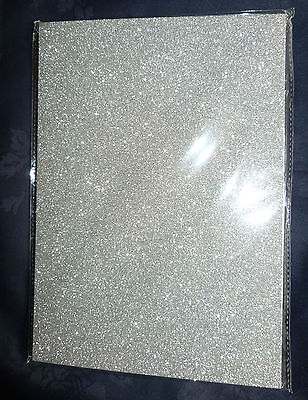 10 x Glitter Card Sheets - A4 250gsm High Quality Card - Sparkling Silver