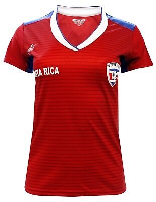 Women Fan Jersey Costa Rica Slim Fit Color (Costa Rica Fitted T-shirt)
